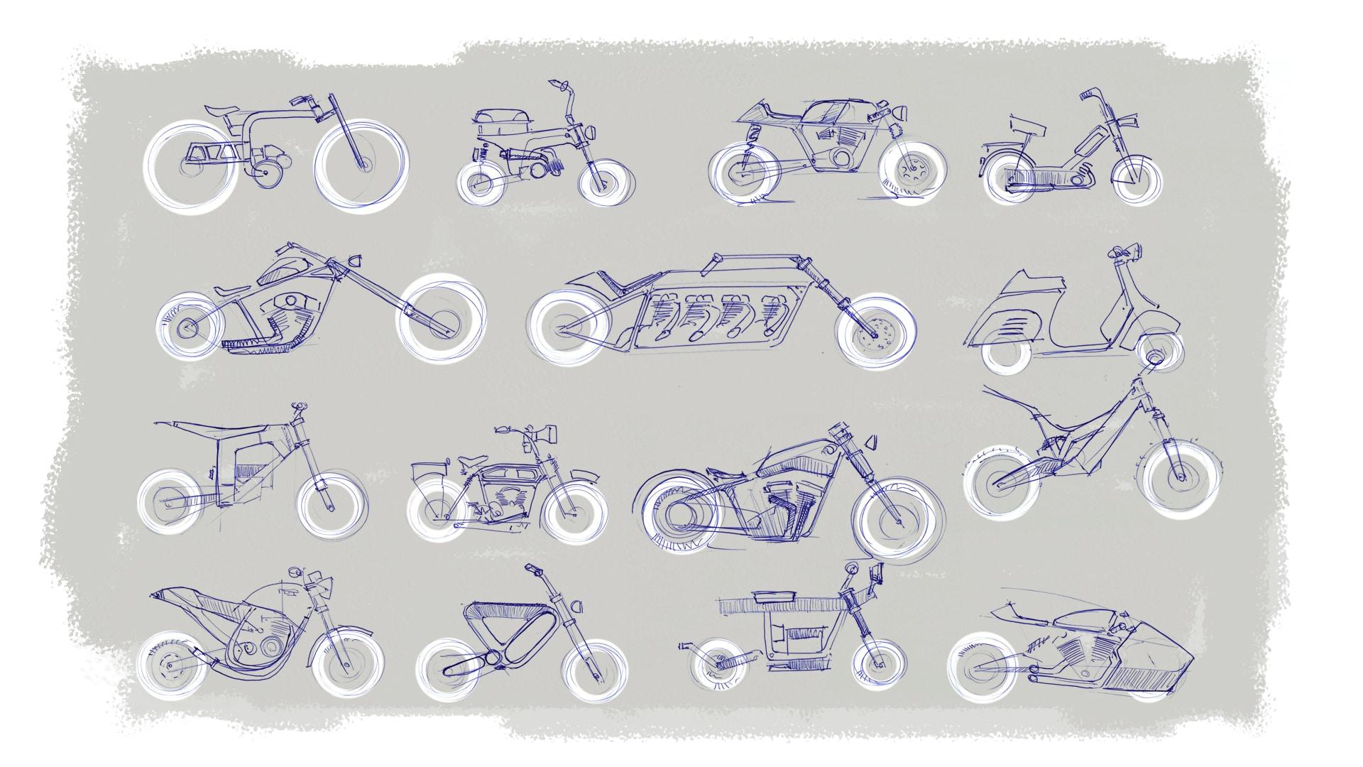 Motorrad Design Bauarten und Klassen: Bobber, Enduros, Chopper, Caferacer, E-Bikes, Scooter, Oldtimer